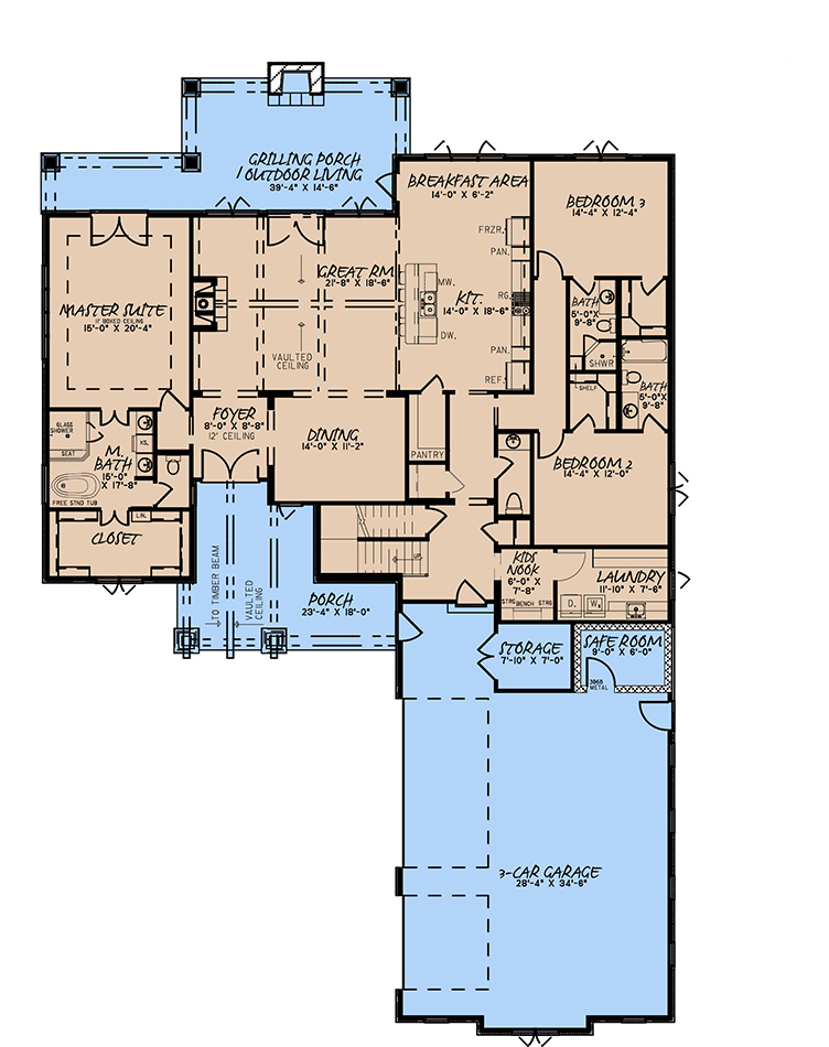 House Plan MEN 5254 Main Floor