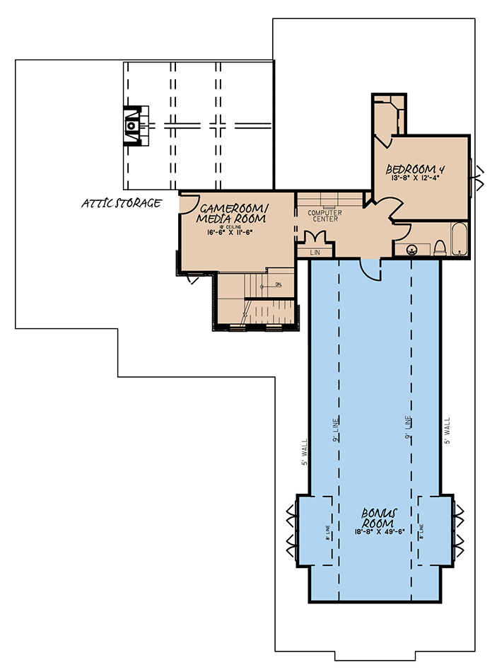 House Plan MEN 5254 Bonus Room