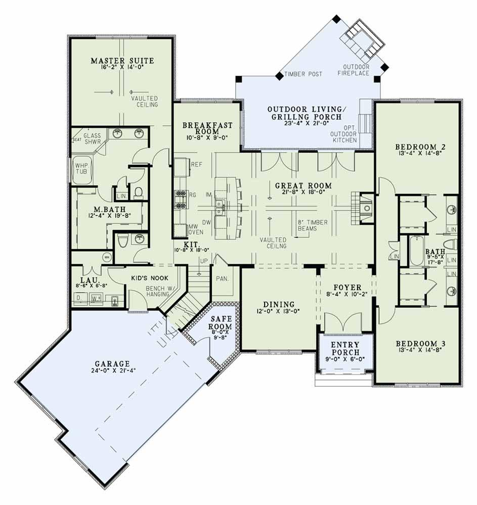 Nelson Design Group House Plan 1429 Blair Lane European House Plan