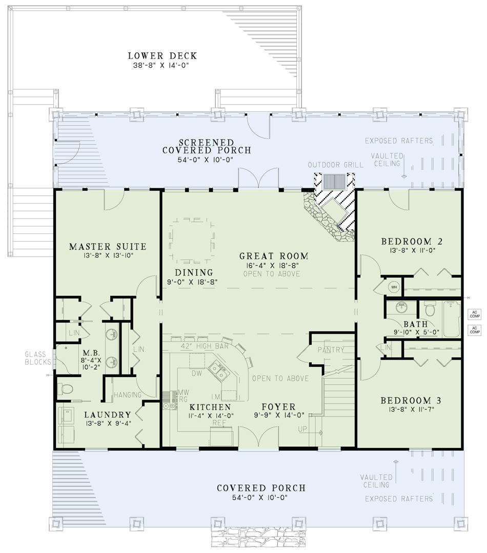 Nelson Design Group House Plan 1114 Lake House Retreat Riverbend House Plan