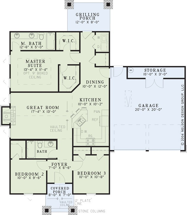 Nelson Design Group House Plan 1104 Pigeon Forge American Woodlands House Plan